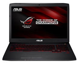 Asus ROG Gaming G751JY-T7161H 43,9 cm (17,3 Zoll) Notebook (Intel Core-i7 4720HQ, 2,6GHz, 24GB RAM, 1TB HDD+ 256GB SSD, NVIDIA Geforce GTX 980M, Bluray, Win 8.1) schwarz - 1