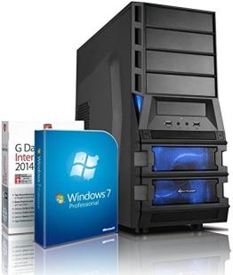 Gaming / Multimedia COMPUTER mit 3 Jahren Garantie! | Quad-Core! AMD A8-7600 4 x 3800 MHz | 8192MB DDR3 | 1500GB S-ATA II HDD | AMD Radeon R7 720 - Mhz 4096 MB DVI/VGA mit DirectX11 Technology | USB3 | FM2+ Mainboard | 22x Dual Layer DVD-Brenner | All-In One Card-Reader | 7 USB-Anschlüsse | Windows7 Professional 64 | GDATA Internet Security 2015 | #4818 - 1
