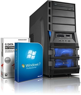 Gaming-PC Computer Bulldozer Six-Core AMD FX-6300 6x3.5GHz (Turbo bis 4.1GHz), GeForce GTX750Ti 2GB DDR5, 1.5TB HDD, 8GB RAM, Win7, DVD RW, 6x USB2.0, GBit LAN, Gamer-PC #4740 - 1
